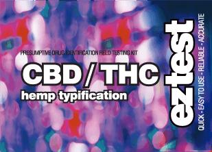 EZ Test for CBD / THC - Hemp Typification - 1 Test