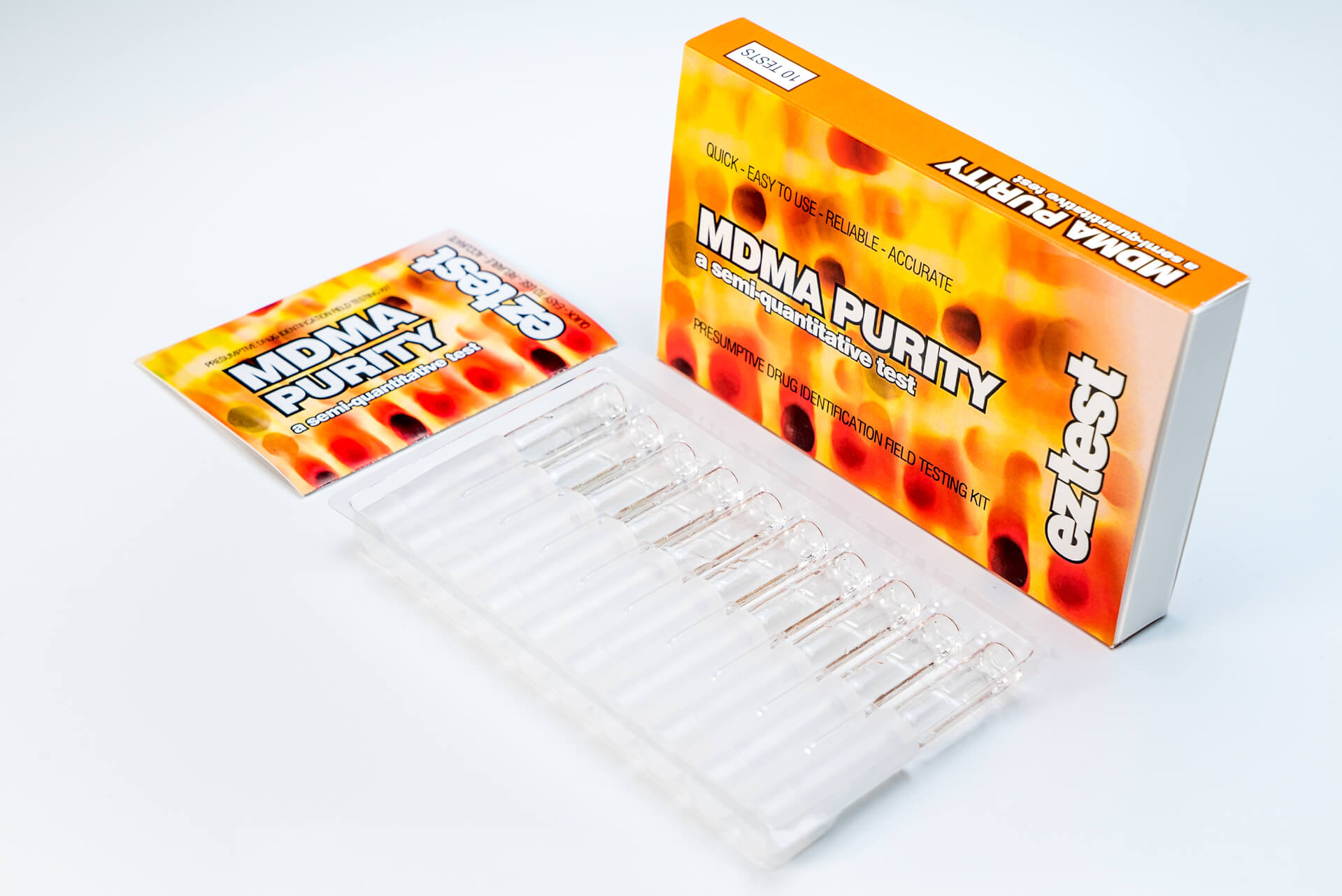 MDMA Purity 10 Use Drug Testing Kit