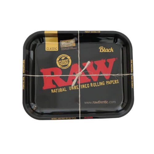 RAW Black Edition Rolling Tray - Medium