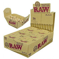 RAW Pre-Rolled Cone Tips x 100
