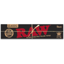 RAW Black King Size Slim Rolling Papers x 50