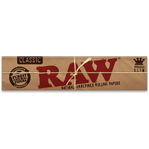 RAW Classic King Size Rolling Papers, Slim x 50