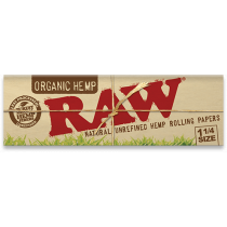 RAW Organic Hemp 1 1/4 Width Rolling Papers x 24