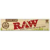 RAW Organic Hemp King Size Slim Rolling Papers x 50
