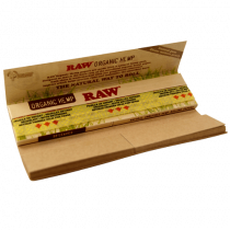 Raw Organic Hemp Connoisseur King Size Slim Rolling Papers w/ Tips x 24