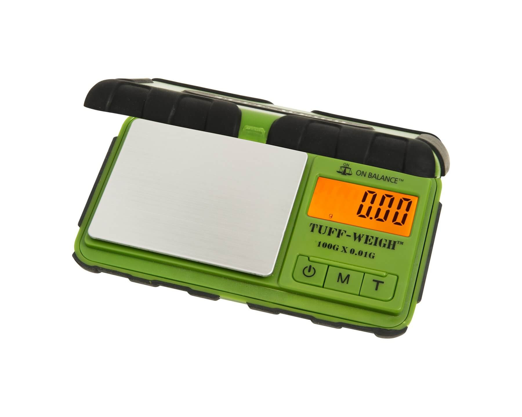 On Balance TUF-100 Tuff Weigh Pocket Scale (100g x 0.01g) - Green