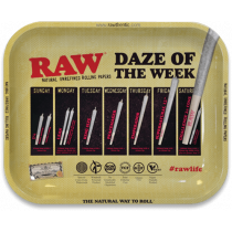 RAW Classic Rolling Tray Medium - Daze of the Week