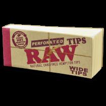 RAW Wide Natural Unrefined Hemptton Tips x 50