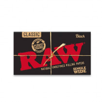 RAW Black Single Wide Rolling Papers x 50
