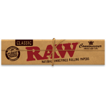 RAW Classic Connoisseur King Size Slim Rolling Papers with Tips x 24
