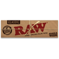 RAW Classic Single Width Standard Rolling Papers (Number 8) x 50