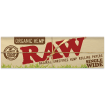 RAW Organic Hemp Single Width Rolling Papers (Number 8) x 50