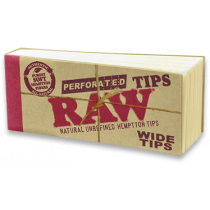 RAW Wide Natural Unrefined Hemptton Tips x 50